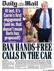 Daily Mail (UK) Newspaper Front Page for 13 August 2019