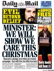 Daily Mail front page for 14 November 2020