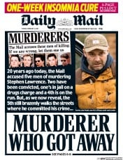 Daily Mail (UK) Newspaper Front Page for 14 February 2017