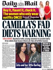 Daily Mail () Newspaper Front Page for 14 February 2019