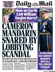 Daily Mail front page for 14 April 2021