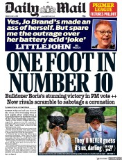 Daily Mail (UK) Newspaper Front Page for 14 June 2019