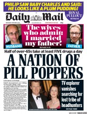 Daily Mail () Newspaper Front Page for 15 November 2017