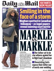 Daily Mail (UK) Newspaper Front Page for 15 January 2020