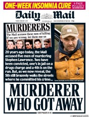 Daily Mail (UK) Newspaper Front Page for 15 February 2017