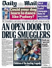 Daily Mail () Newspaper Front Page for 15 May 2012