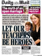 Daily Mail (UK) Newspaper Front Page for 15 May 2020