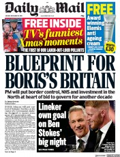 Daily Mail () Newspaper Front Page for 16 December 2019