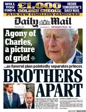 Daily Mail front page for 16 April 2021