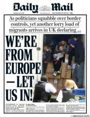 Daily Mail () Newspaper Front Page for 16 June 2016