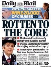 Daily Mail () Newspaper Front Page for 16 June 2021