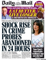 Daily Mail (UK) Newspaper Front Page for 16 September 2019