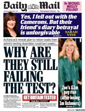 Daily Mail front page for 16 September 2020