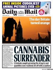Daily Mail (UK) Newspaper Front Page for 17 October 2017
