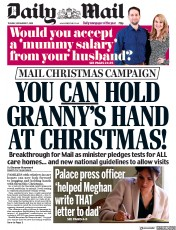 Daily Mail front page for 17 November 2020