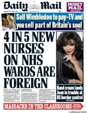 Daily Mail (UK) Newspaper Front Page for 17 December 2014