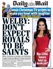 Daily Mail (UK) Newspaper Front Page for 17 December 2019