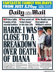 Daily Mail (UK) Newspaper Front Page for 17 April 2017