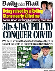 Daily Mail (UK) Newspaper Front Page for 17 June 2020