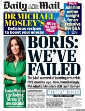 Daily Mail front page for 17 September 2020