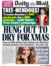 Daily Mail () Newspaper Front Page for 18 December 2019