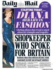 Daily Mail (UK) Newspaper Front Page for 18 February 2017