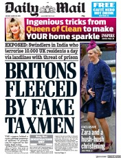 Daily Mail (UK) Newspaper Front Page for 18 March 2019