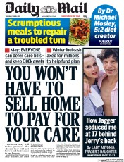 Daily Mail (UK) Newspaper Front Page for 18 May 2017