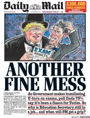 Daily Mail (UK) Newspaper Front Page for 18 August 2020