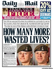 Daily Mail Newspaper Front Page (UK) for 18 September 2012