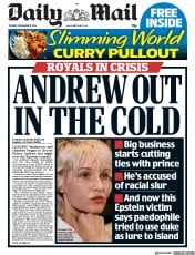 Daily Mail (UK) Newspaper Front Page for 19 November 2019