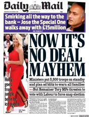 Daily Mail (UK) Newspaper Front Page for 19 December 2018