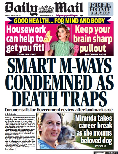 Daily Mail Newspaper Front Page (UK) for 19 January 2021