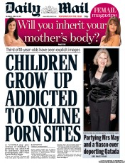Daily Mail Newspaper Front Page (UK) for 19 April 2012