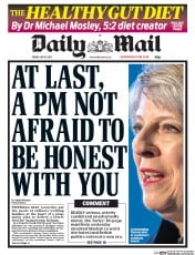 Daily Mail (UK) Newspaper Front Page for 19 May 2017
