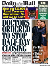 Daily Mail (UK) Newspaper Front Page for 19 August 2019