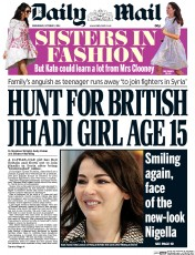 Daily Mail (UK) Newspaper Front Page for 1 October 2014