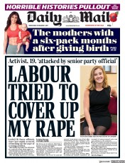 Daily Mail (UK) Newspaper Front Page for 1 November 2017