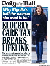 Daily Mail (UK) Newspaper Front Page for 1 May 2017