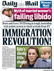 Daily Mail (UK) Newspaper Front Page for 1 June 2016