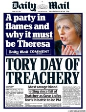 Daily Mail () Newspaper Front Page for 1 July 2016