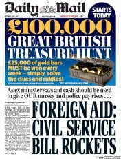Daily Mail (UK) Newspaper Front Page for 1 July 2017