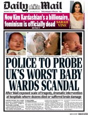 Daily Mail front page for 1 July 2020