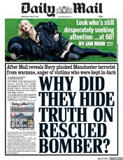 Daily Mail (UK) Newspaper Front Page for 1 August 2018