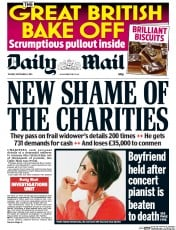 Daily Mail (UK) Newspaper Front Page for 1 September 2015