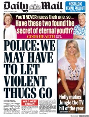 Daily Mail (UK) Newspaper Front Page for 20 November 2018