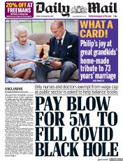 Daily Mail front page for 20 November 2020