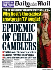 Daily Mail (UK) Newspaper Front Page for 21 November 2018