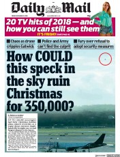 Daily Mail (UK) Newspaper Front Page for 21 December 2018