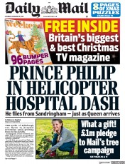 Daily Mail (UK) Newspaper Front Page for 21 December 2019